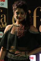 Ritika Singh in a Ethnic Deep Neck Dark Green Choli Ghagra at IIFA Utsavam Awards March 2017 ~ 033.JPG