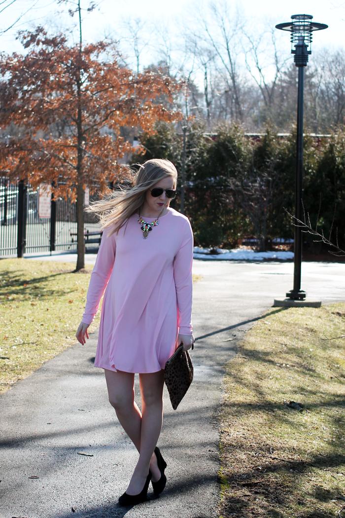 nordstrom glamorous shift dress, nordstrom savvy dress, nordstrom pink dress, pink shift dress, perfect pink dress, boston blogger, boston fashion blogger, boston style blog, style-blueprint blog