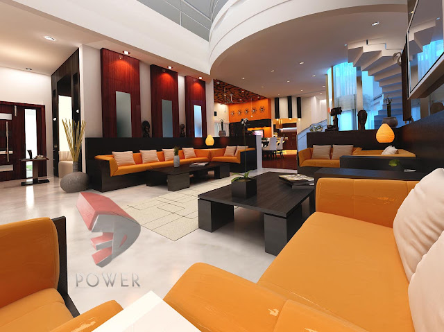 3D Rendering Interior Of Living Room