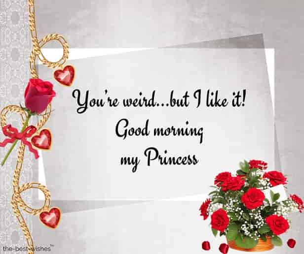 good morning sweet princess sms