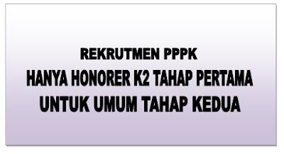 Rekrutmen PPPK Hanya Honorer K2 Tahap Pertama