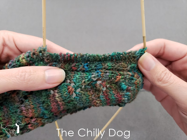 Sock Knitting Tutorial: Picking up stitches along a heel flap with garter stitch edging