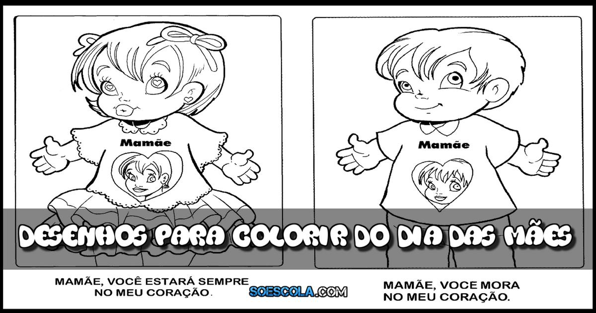 Desenhos Para Colorir Do Dia Das Mães