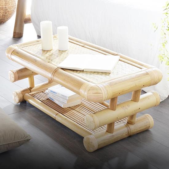 meja bambu etnik