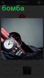 изготовлен муляж бомбы и положена в рюкзак с часами