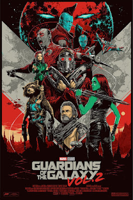 Guardians of the Galaxy Vol. 2 Movie Poster Regular Edition Screen Print by Ken Taylor x Mondo x Marvel