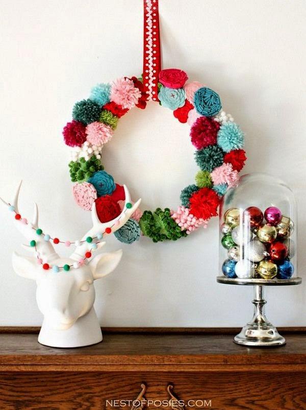 Enfeites caseiros de Natal