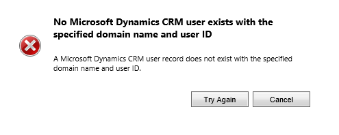 CrmUserChecker for No Microsoft Dynamics CRM user exists