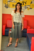 Eesha in a cute deep neck top and Skirt at at Big FM 089.JPG