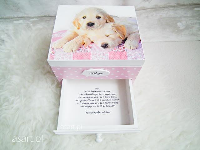 szkatułka dla dziewczynki na urodziny