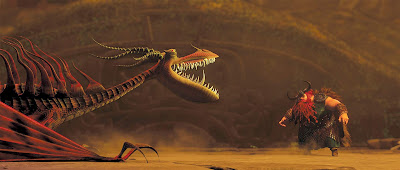 How to Train Your Dragon 2010 movie Gerard Butler fighting dragon