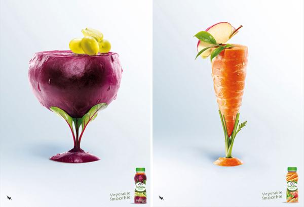 cartel de frutas remolacha o betael y zanahoria