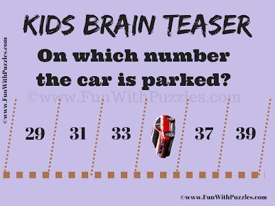 It is an Easy Parking Puzzle for Kids in which you have to tell on which number the car is parked