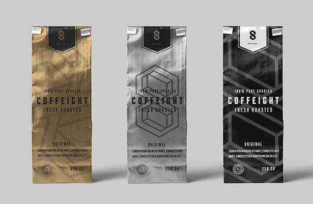 Gratis Mockup Packaging/Kemasan PSD 2018 - Coffee Bag Mockup PSD