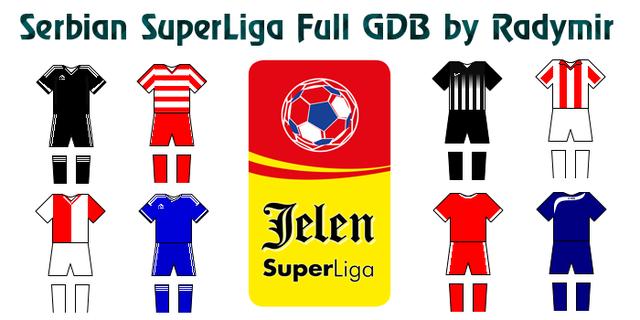 Serbian SuperLiga Full GDB kits 2016-17