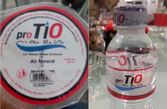 Label kemasan Pro Tio