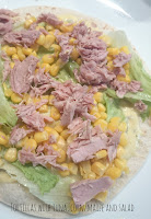 Recipe Tortillas with tuna, corn/maize and salad