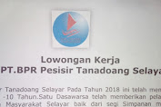 Lowongan Kerja Di PT. BPR Pesisir Tanadoang Selayar