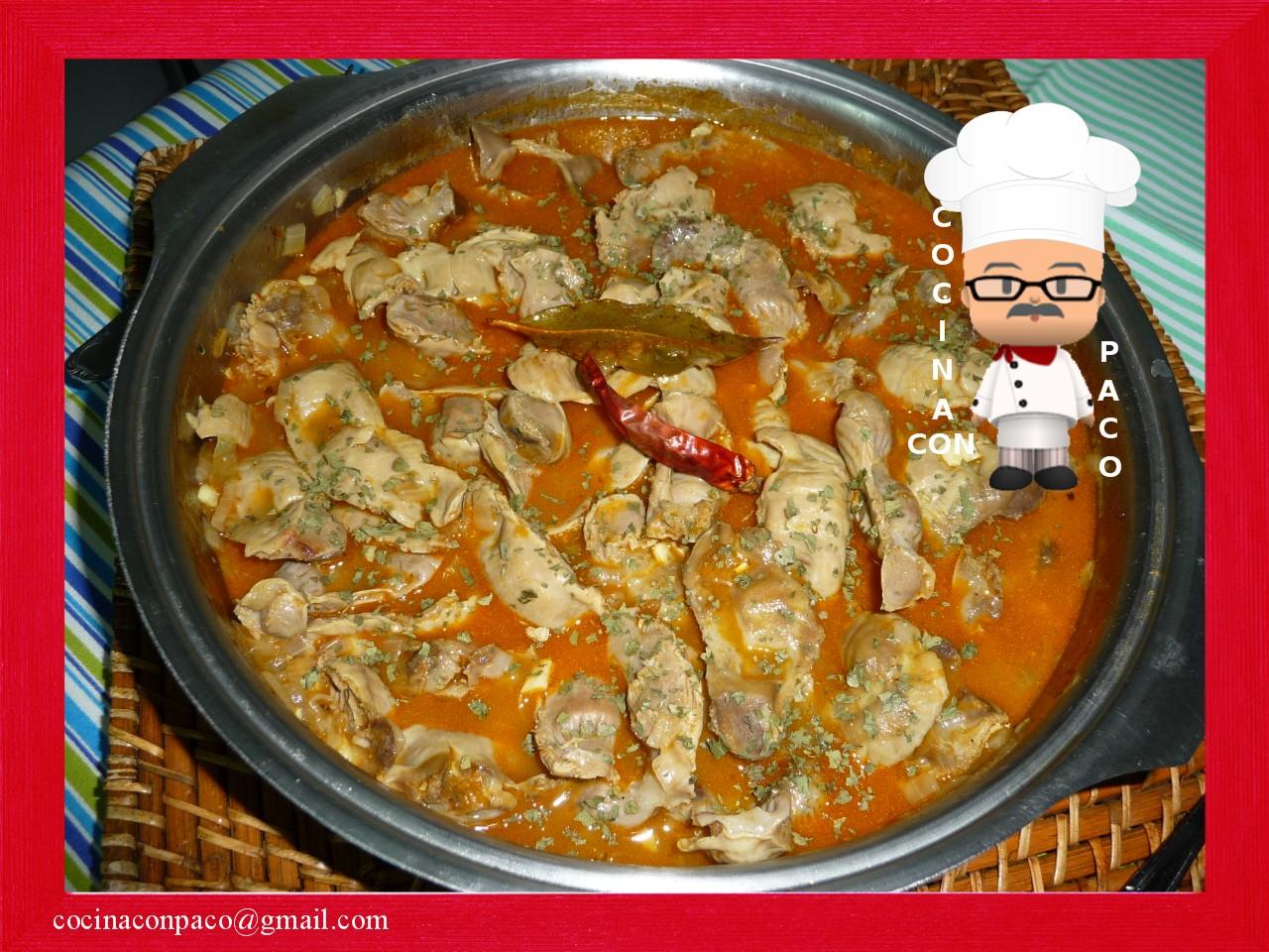 Cocina Con Paco Mollejas De Pollo En Salsa