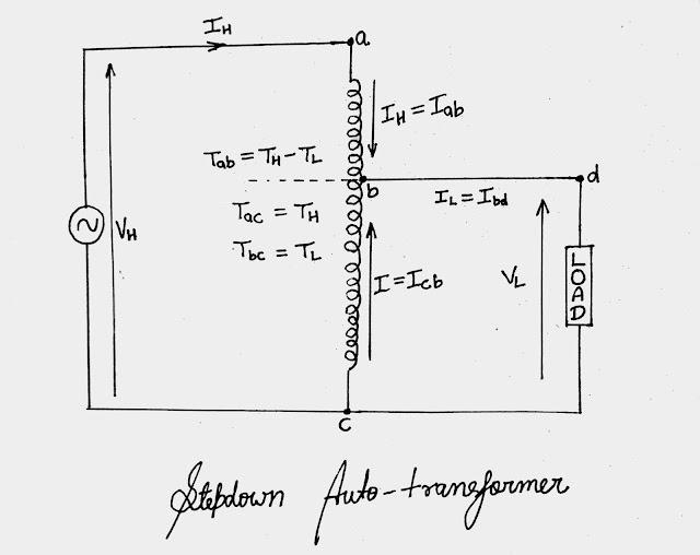 Single Phase Auto Transformer|Construction Of Stepdown