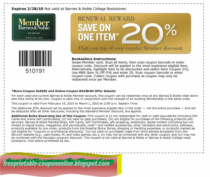 Coupon for barnes and noble textbooks online