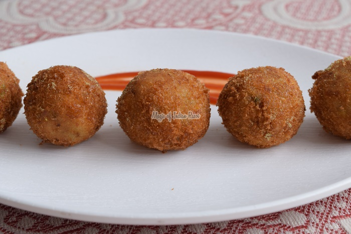 Cheese Corn Potato Balls | Indian Style Cheese Corn Balls Recipe - Magic of Indian Rasoi- Priya R