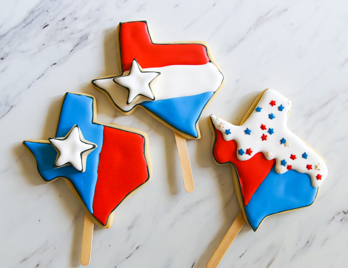 Texas Bomb Pop Cookies ♥ bakeat350.net