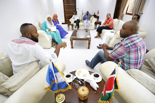 Governor Hassan Joho in Mombasa county Assembly. PHOTO | MCM
