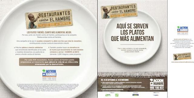 Cartel de la iniciativa solidaria Restaurantes contra el hambre