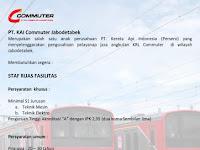 Lowongan Kerja KAI Commuter Jabodetabek Desember 2016 - Staf Ruas Fasilitas