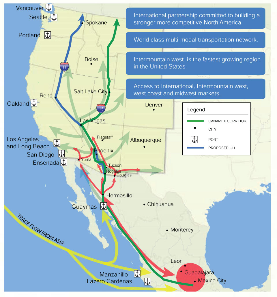 Highway 11 Arizona Map.Stop The Canamex Sun Corridor Filling In The I 11 Canamex Gaps