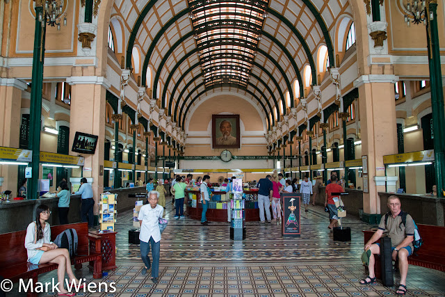 INSIDE THE CENTRAL POST OFFICE OF HO CHI MINH CITY viet nam