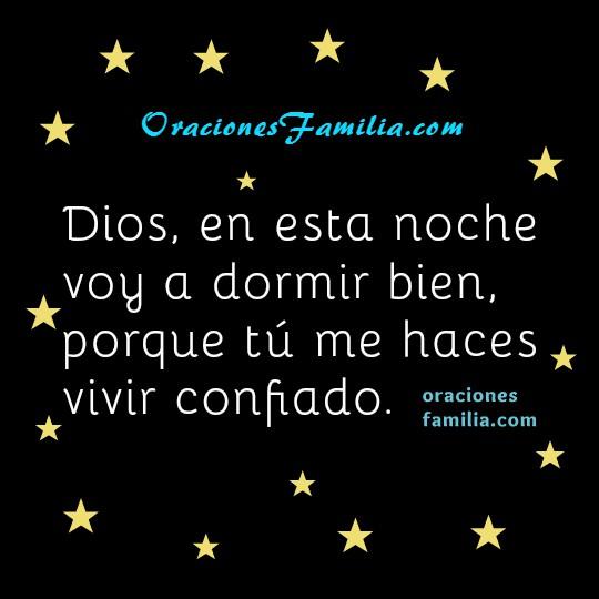 Oración de la noche de descanso, dormir tranquilo, frases con oraciones de buenas noches cristianas por Mery Bracho.