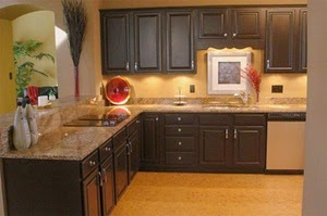 L shaped kitchen set