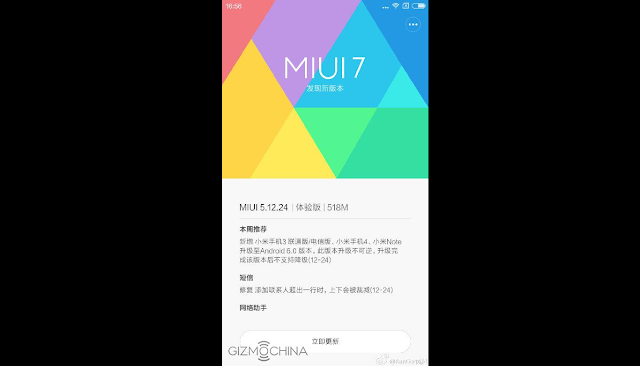 Android 6.0 Marshmallow MIUI 7 coming soon for Xiaomi Mi 3, Mi 4 and Mi Note