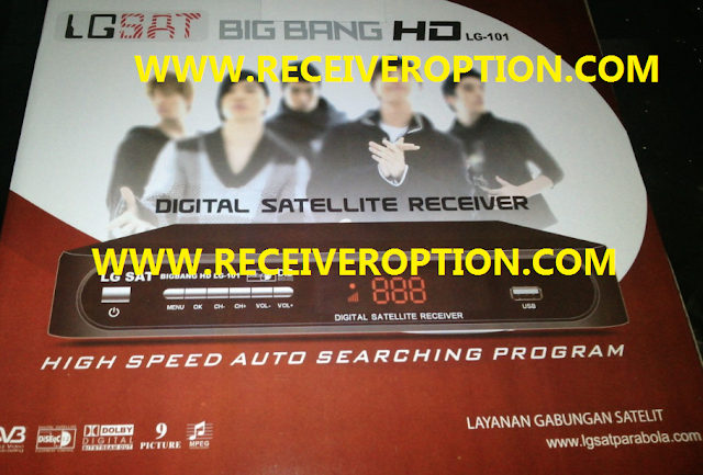 BIG BANG HD LG-101 RECEIVER POWERVU KEY NEW SOFTWARE