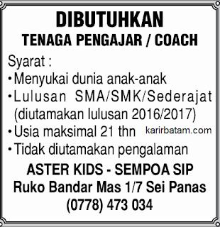 Lowongan Kerja Bimbel Aster kids - Sempoa SIP
