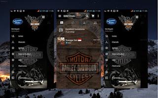 BBM MOD Harley Davidson v3.0.0.18 Apk Terbaru