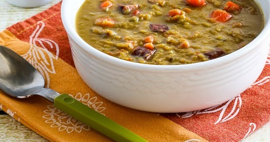 ... Slow Cooker Split Pea Soup Recipe with Chicken Sausage and Carrots