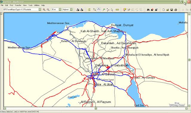 GPSTravelMaps com: Egypt GPS Map