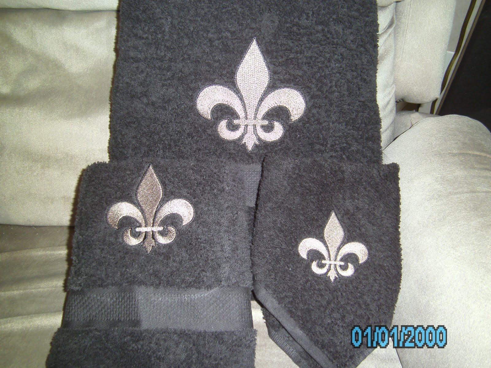 Fleur De Lis Saints Bath Towels