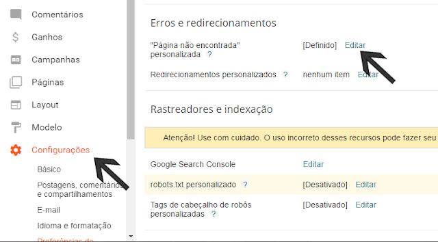 Configure Error 404 - Page Not Found - Notoriobit
