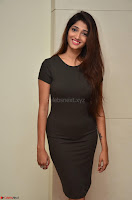 Priya Vadlamani super cute in tight brown dress at Stone Media Films production No 1 movie announcement 010.jpg