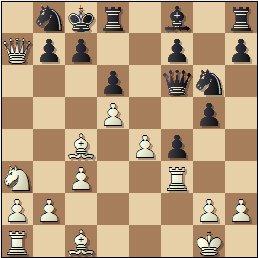 Partida de ajedrez Sigismund Hamel vs. Hilarió Soler, 1863, posición después de 12…Cg6