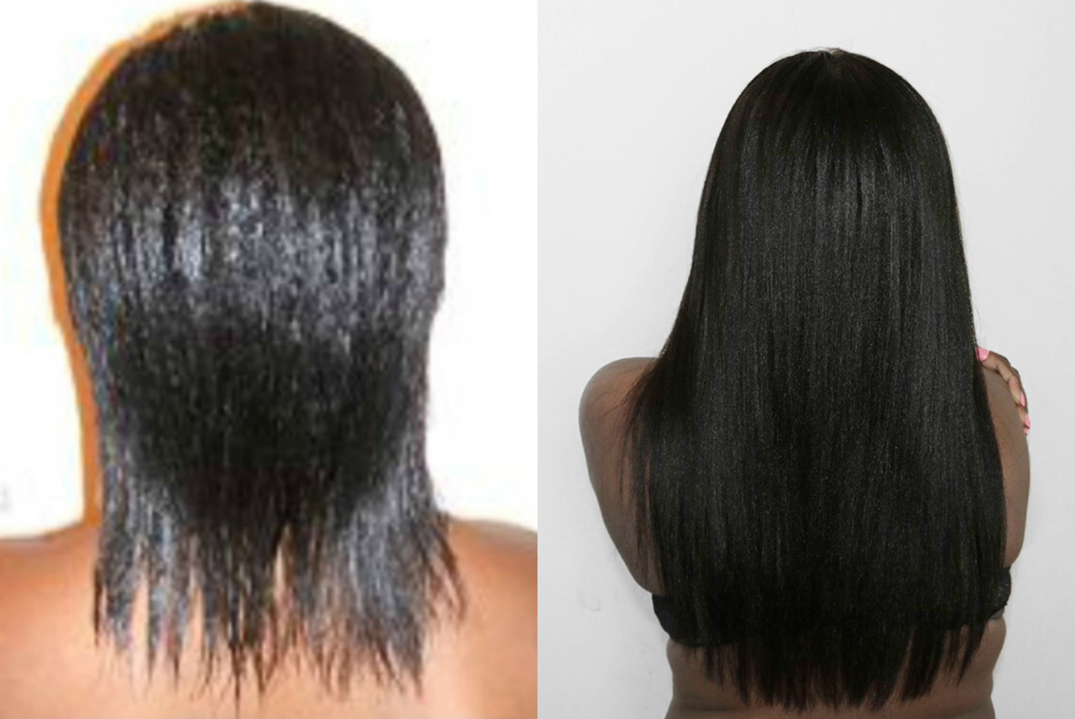 Then and Now Relaxed Hair Comparison. Relaxed hair can growth healthy and strong. | HairliciousInc.com