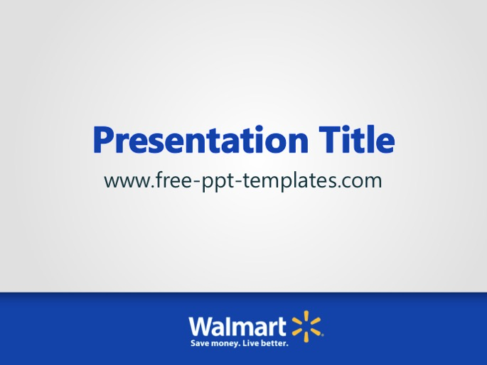 walmart ppt template, Presentation templates