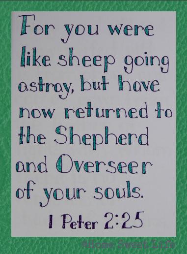 Scripture Writing, 1 Peter 2:25