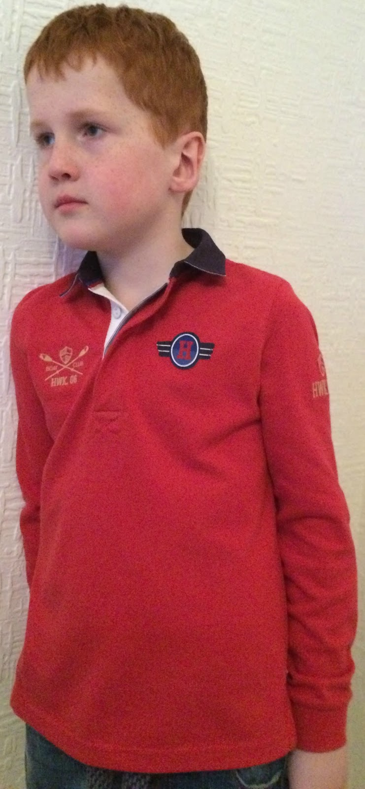 Ieuan wearing the Howick Junior Pique Polo Top