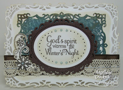 "Our Daily Bread designs ""Snowy Blessings"" and ""Snowflake Mini Set"" Designer Angie Crockett"