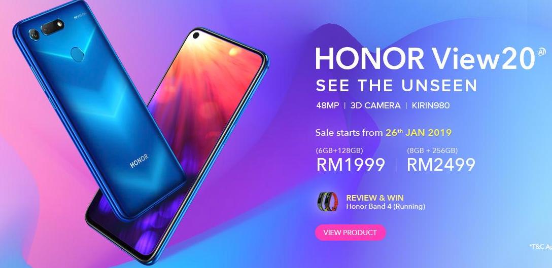 Honor View20 – Kamera 48MP Boleh Didapati Dengan Harga RM1999 Di Malaysia